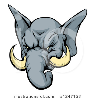 Elephant Clipart #1247158 by AtStockIllustration