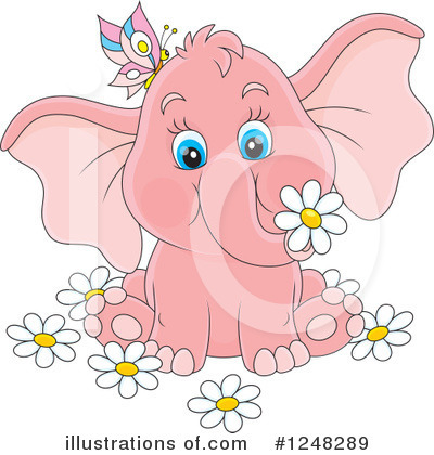 Elephant Clipart #1248289 by Alex Bannykh