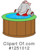 Royalty-Free (RF) Elephant Clipart Illustration #1251012