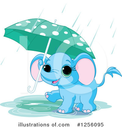 Royalty-Free (RF) Elephant Clipart Illustration by Pushkin - Stock Sample #1256095