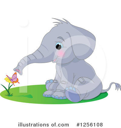 Elephant Clipart #1256108 by Pushkin