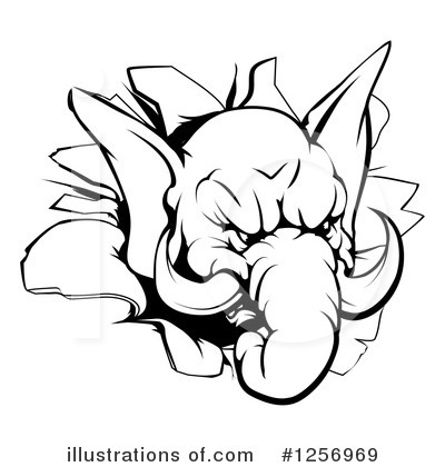 Elephant Clipart #1256969 by AtStockIllustration