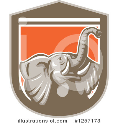 Elephant Clipart #1257173 by patrimonio