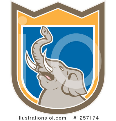 Elephant Clipart #1257174 by patrimonio