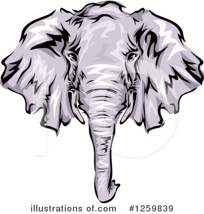 Elephant Clipart #1259839 by BNP Design Studio
