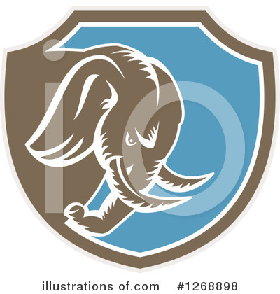 Elephant Clipart #1268898 by patrimonio