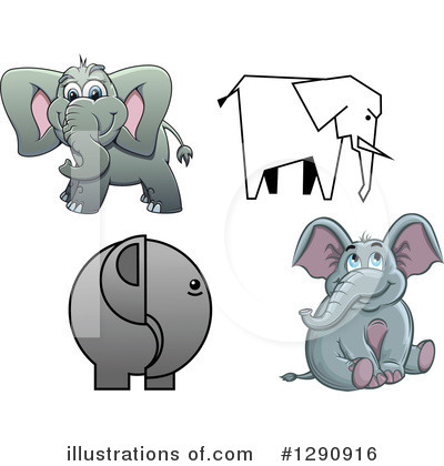 Elephant Clipart #1290916 by Vector Tradition SM