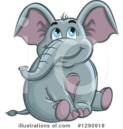 Elephant Clipart #1290918 by Vector Tradition SM