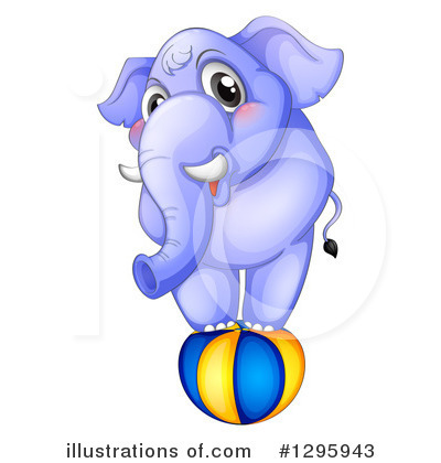 Royalty-Free (RF) Elephant Clipart Illustration by Graphics RF - Stock Sample #1295943