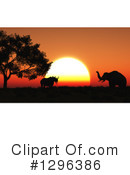 Elephant Clipart #1296386 by KJ Pargeter