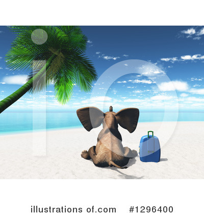 Tropical Beach Clipart #1296400 by KJ Pargeter