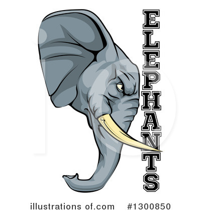 Elephant Clipart #1300850 by AtStockIllustration
