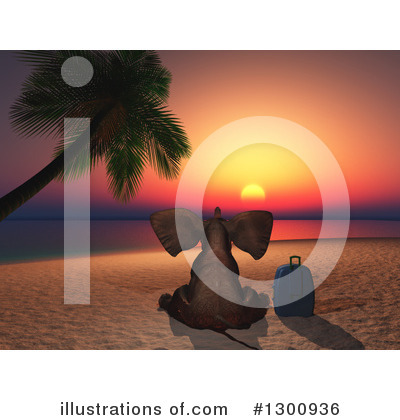 Tropical Beach Clipart #1300936 by KJ Pargeter