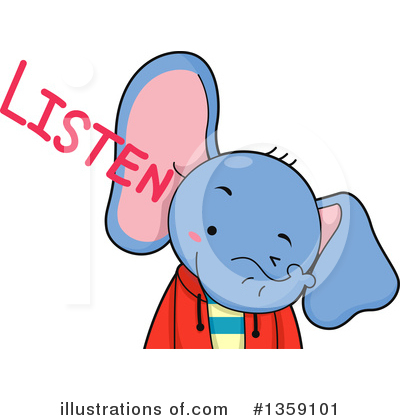 Elephant Clipart #1359101 by BNP Design Studio