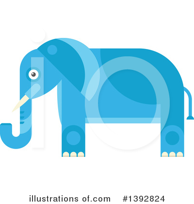 Elephant Clipart #1392824 by Vector Tradition SM