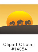Royalty-Free (RF) Elephant Clipart Illustration #14054