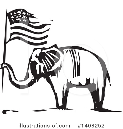 Royalty-Free (RF) Elephant Clipart Illustration by xunantunich - Stock Sample #1408252