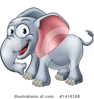 Elephant Clipart #1416160 by AtStockIllustration