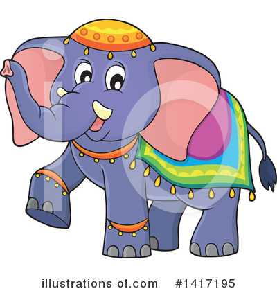 Elephant Clipart #1417195 by visekart