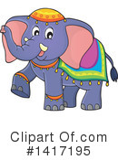 Royalty-Free (RF) Elephant Clipart Illustration #1417195