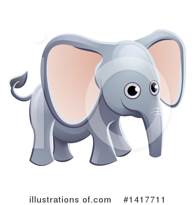 Royalty-Free (RF) Elephant Clipart Illustration by AtStockIllustration - Stock Sample #1417711