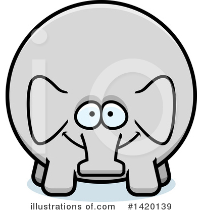 Royalty-Free (RF) Elephant Clipart Illustration by Cory Thoman - Stock Sample #1420139