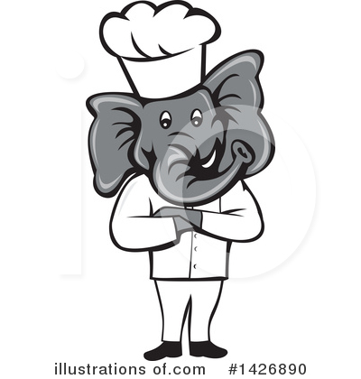 Elephant Clipart #1426890 by patrimonio