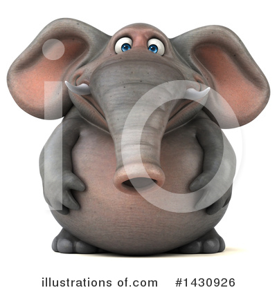 Royalty-Free (RF) Elephant Clipart Illustration by Julos - Stock Sample #1430926