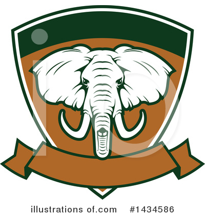 Elephant Clipart #1434586 by Vector Tradition SM