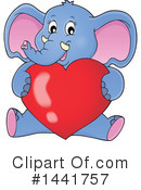 Royalty-Free (RF) Elephant Clipart Illustration #1441757