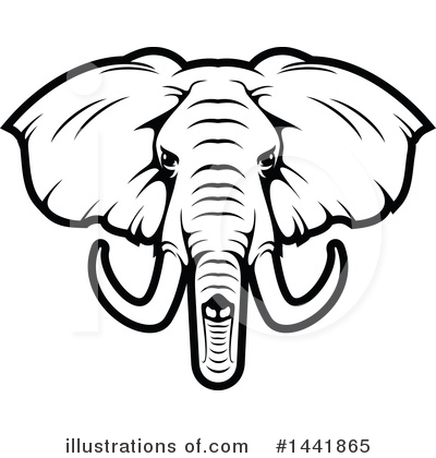 Elephant Clipart #1441865 by Vector Tradition SM