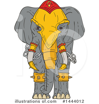 Elephant Clipart #1444012 by patrimonio