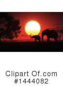 Elephant Clipart #1444082 by KJ Pargeter