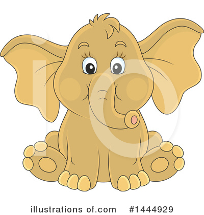 Elephant Clipart #1444929 by Alex Bannykh