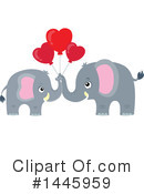 Royalty-Free (RF) Elephant Clipart Illustration #1445959