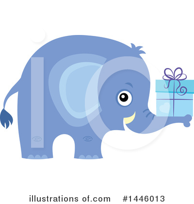 Royalty-Free (RF) Elephant Clipart Illustration by visekart - Stock Sample #1446013