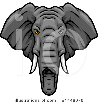 Elephant Clipart #1448070 by Vector Tradition SM