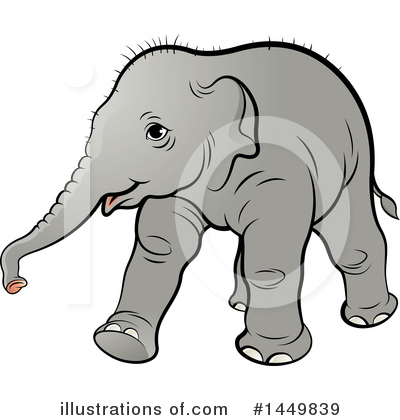 Elephant Clipart #1449839 by Lal Perera