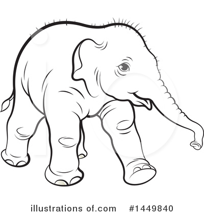 Elephant Clipart #1449840 by Lal Perera