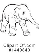 Royalty-Free (RF) Elephant Clipart Illustration #1449840