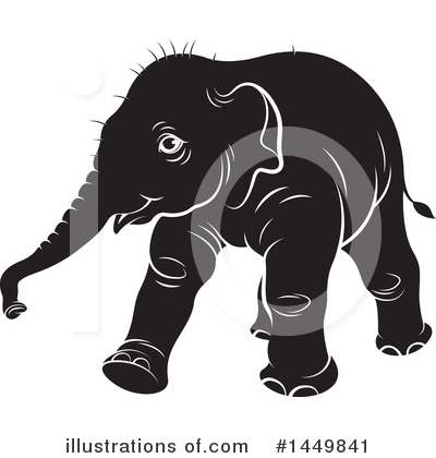 Elephant Clipart #1449841 by Lal Perera