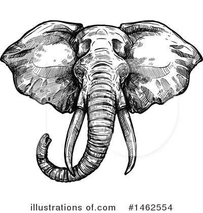 Elephant Clipart #1462554 by Vector Tradition SM