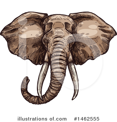Elephant Clipart #1462555 by Vector Tradition SM