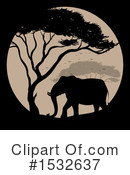 Elephant Clipart #1532637 by Graphics RF