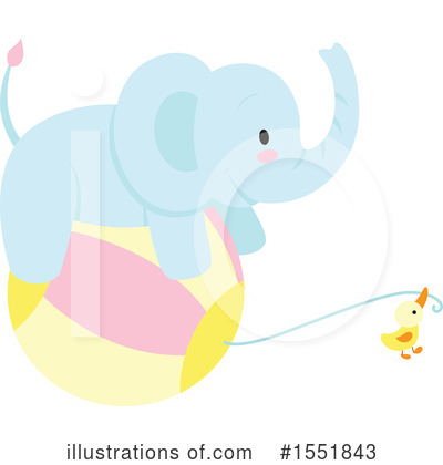 Elephant Clipart #1551843 by Cherie Reve