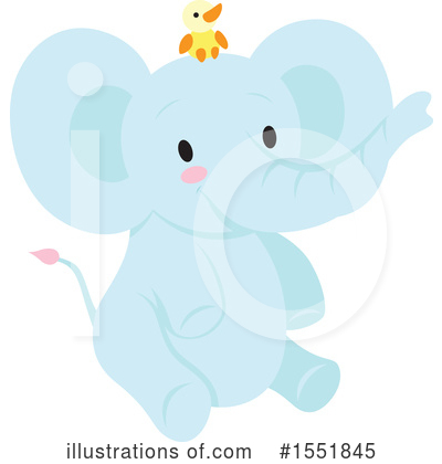 Elephant Clipart #1551845 by Cherie Reve