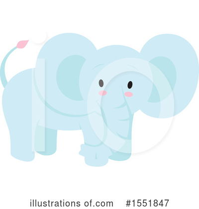 Elephant Clipart #1551847 by Cherie Reve