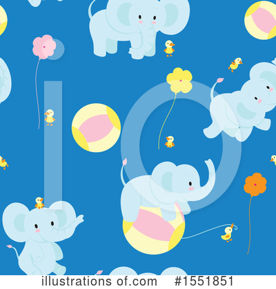 Royalty-Free (RF) Elephant Clipart Illustration by Cherie Reve - Stock Sample #1551851