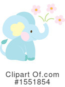 Royalty-Free (RF) Elephant Clipart Illustration #1551854