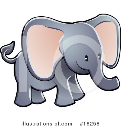 Elephant Clipart #16258 by AtStockIllustration